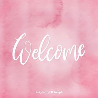Benvenuto lettering design