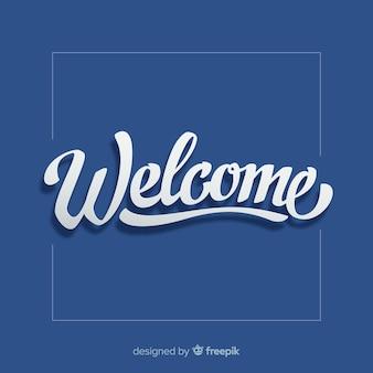 Benvenuto moderno lettering design