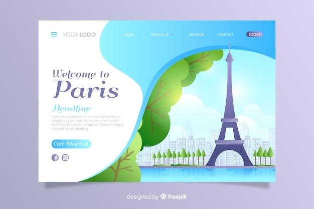 Benvenuto nel modello della pagina di destinazione di parigi
