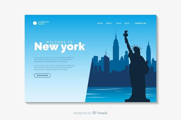 Benvenuto nel modello di landing page di new york