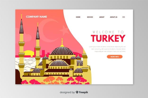 Benvenuto nel modello di pagina di destinazione in turchia