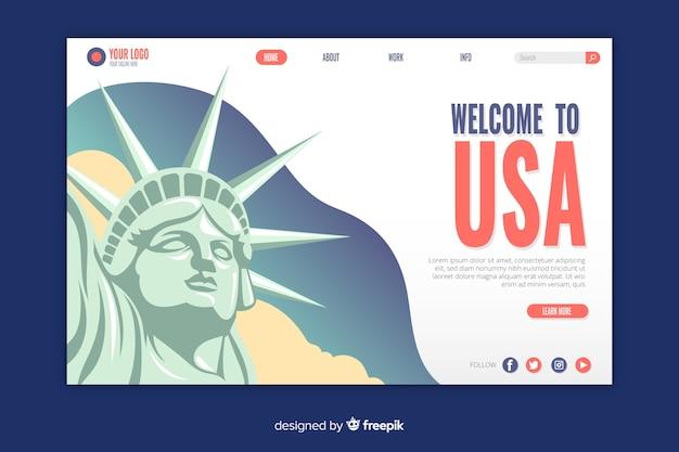 Benvenuto nella landing page degli stati uniti