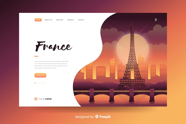 Benvenuto nella landing page della francia