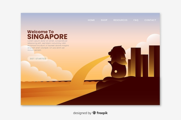 Benvenuto nella landing page di singapore