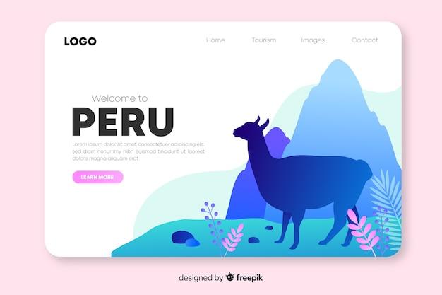 Benvenuto nella pagina di destinazione del perù