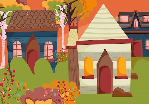 Benvenuto stagione delle foglie d'autunno