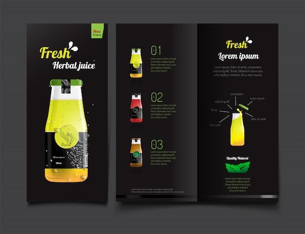 Bere il succo. modello di brochure