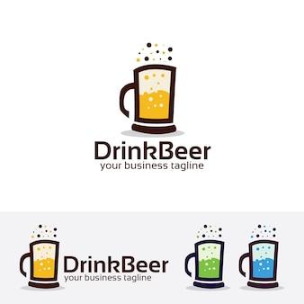 Bere modello di logo della birra