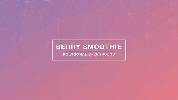 Berry smoothie polygonal