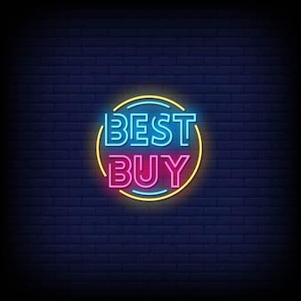 Best buy insegne al neon in stile testo