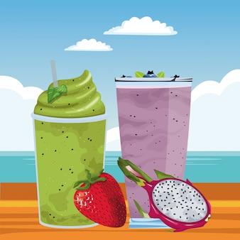 Bevanda di frutta tropicale e frullato