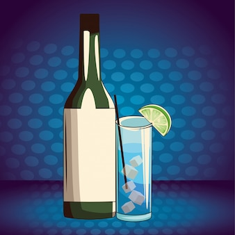 Bevande alcoliche cartone animato di bevande