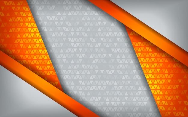 Bianco arancio astratto moderno di tecnologia con il fondo di sovrapposizione.