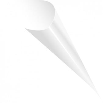 Bianco arricciato pagina