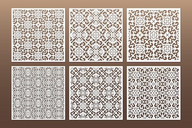 Bianco decorativo die cut seamless pattern