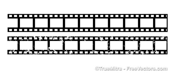 Bianco e nero strisce di pellicola vettoriale