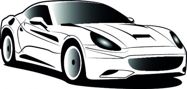 Bianco ferrari cartone animato vettore icona