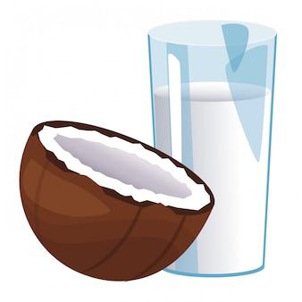 Bicchiere d'acqua di cocco