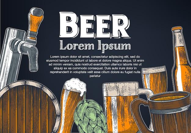 Bicchiere da birra colorato