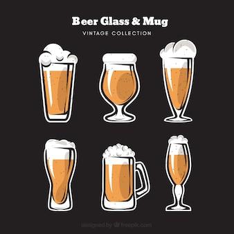 Bicchiere da birra vintage e collezione mug