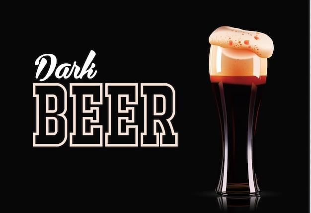 Bicchiere di birra scura