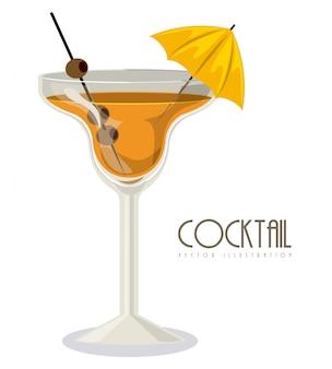 Bicchiere di cocktail con drink