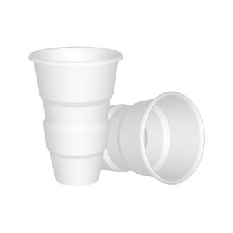 Bicchiere di plastica realistico