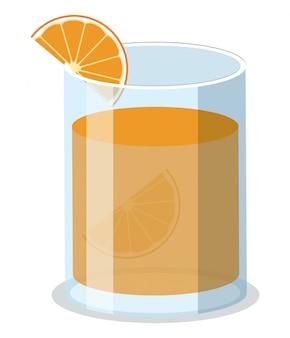 Bicchiere di succo d'organetto