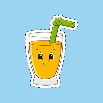 Bicchiere simpatico cartone animato.