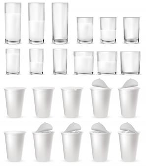 Bicchieri di vetro realistici