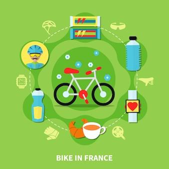 Bici in composizione in francia