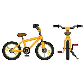 Bicicletta con cornice gialla