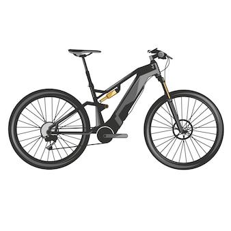 Bicicletta di sport estremo in discesa di vettore di mountain bike
