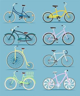 Bicicletta in stile piatto