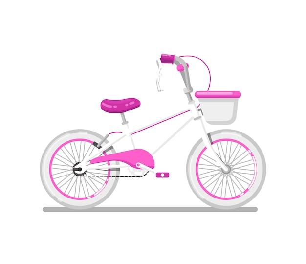 Bicicletta per bambini per ragazza isolata