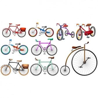 Biciclette collezione colorata