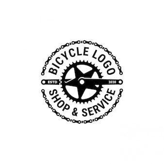 Biciclette, negozio di biciclette e logo del servizio