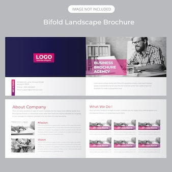 Bifold landscape brochure template
