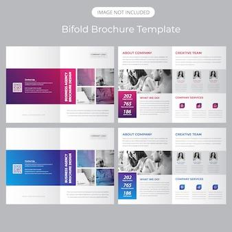 Bifold modello di brochure