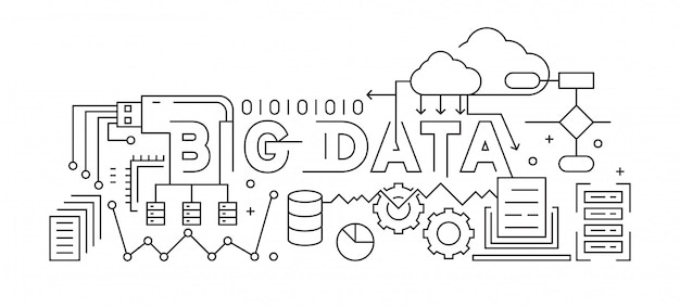 Big data line art design