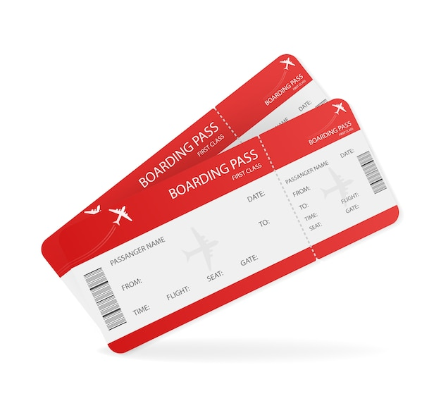 Biglietti aerei vuoti per. illustrazione. concetto di affari. modello .