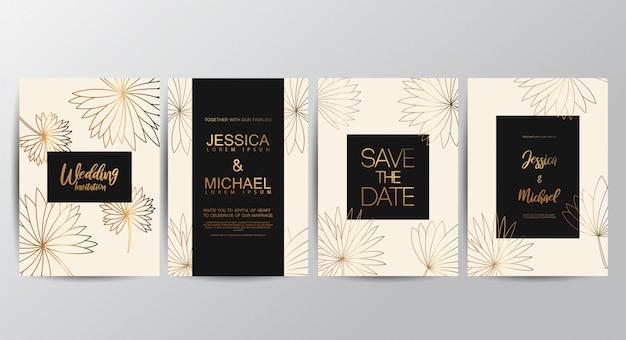 Biglietti d'invito di lusso premium per matrimoni