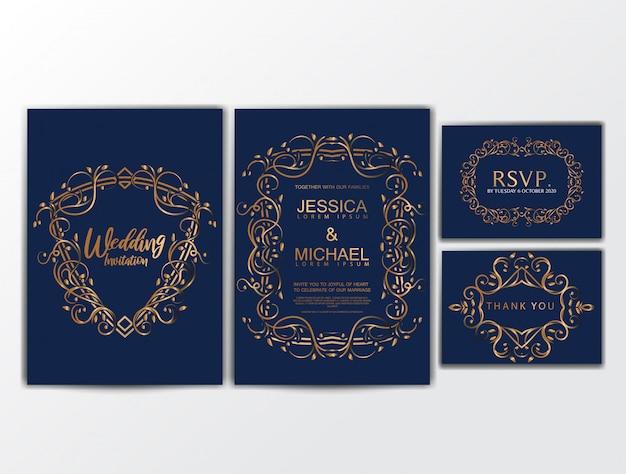 Biglietti d'invito per matrimoni di lusso