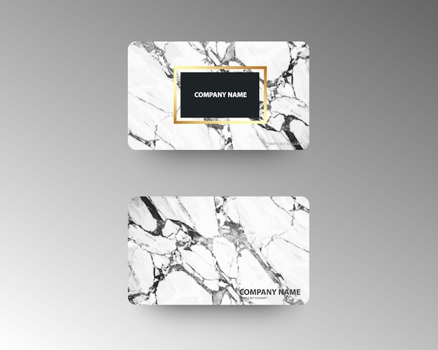 Biglietti da visita di lusso con struttura in marmo e oro