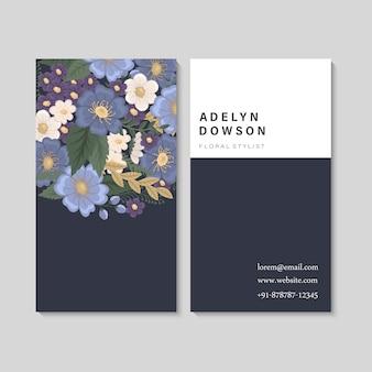 Biglietti da visita fiore blu
