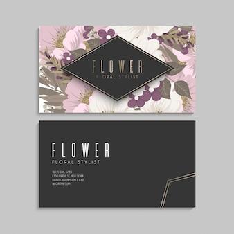 Biglietti da visita fiore fiori rosa