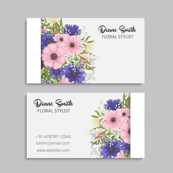 Biglietti da visita fiore fiori viola