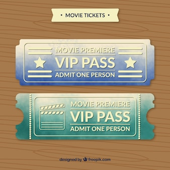 Biglietti del passaggio di cinema vip