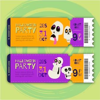 Biglietti per feste di halloween