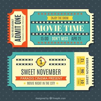 Biglietti per il cinema d'epoca insieme